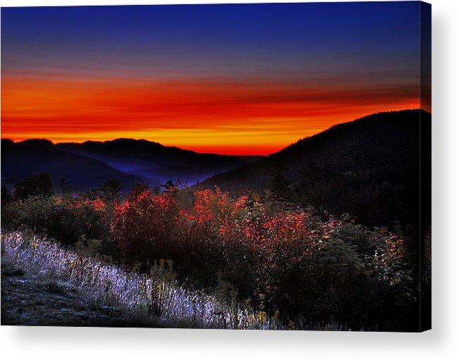 Sunrise Acrylic Print featuring the photograph Autumn Sunrise by William Carroll