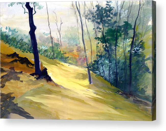 Landscape Acrylic Print featuring the painting Balance by Anil Nene