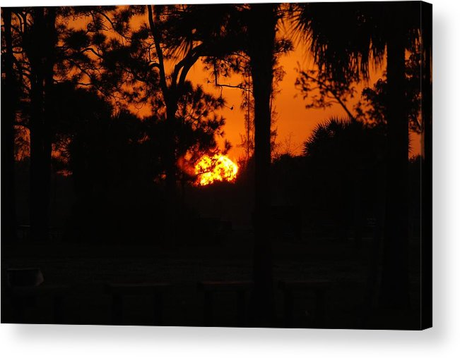Landscape Acrylic Print featuring the photograph Ball Of Fire by Rob Hans