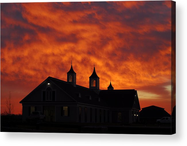 Barn Acrylic Print featuring the photograph Barn Four At Sunrise by Steven Crown