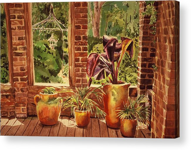 Architecture Acrylic Print featuring the painting Barnsley Ruins by Durinda Cheek