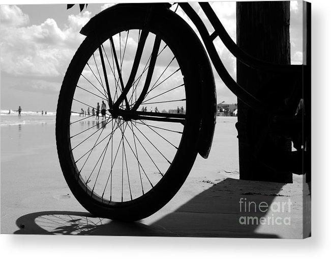 Beach Acrylic Print featuring the photograph Beach Bicycle by David Lee Thompson