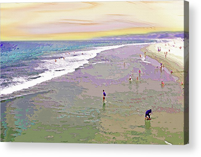 California Acrylic Print featuring the photograph Beachgoers 1 by Steve Ohlsen