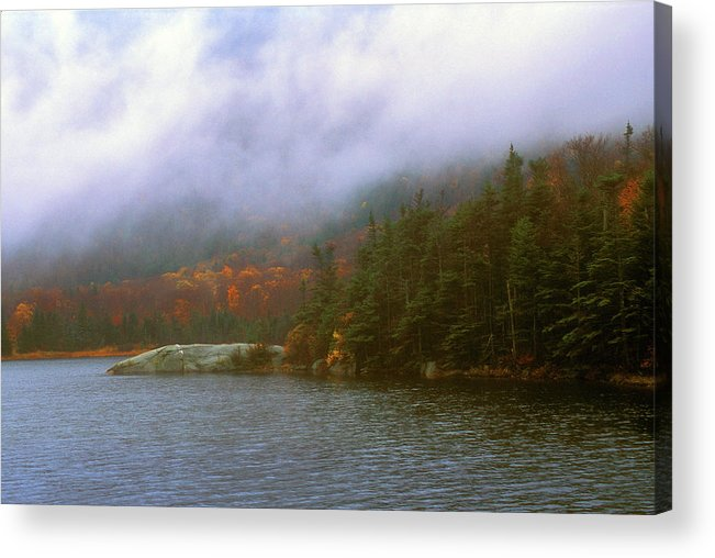 Mount Moosilauke Acrylic Print featuring the photograph Beaver Pond Kinsman Notch Autumn Storm by John Burk