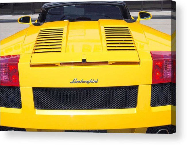 Wheels Acrylic Print featuring the photograph Bill's Lambo by Margaret Fortunato