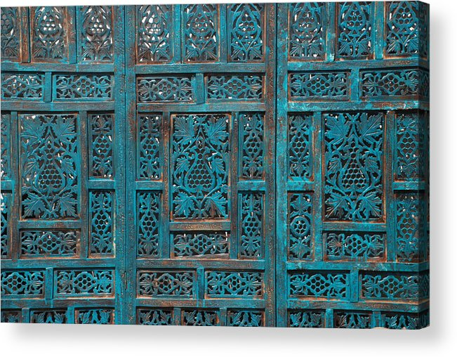Abstract Acrylic Print featuring the photograph Blue Screens by William Thomas