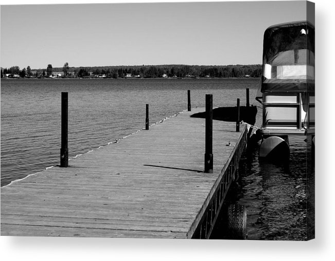 Lake Acrylic Print featuring the photograph Boat Landing by Lisa Hebert