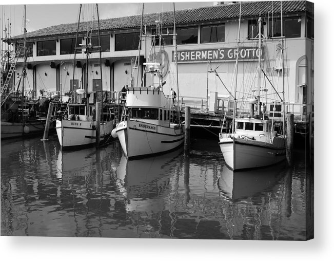 Water Acrylic Print featuring the photograph Boats At The Dock by Brian Anderson