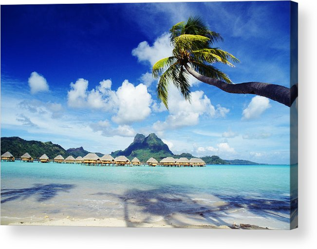 Afternoon Acrylic Print featuring the photograph Bora Bora, Lagoon Resort by Himani - Printscapes