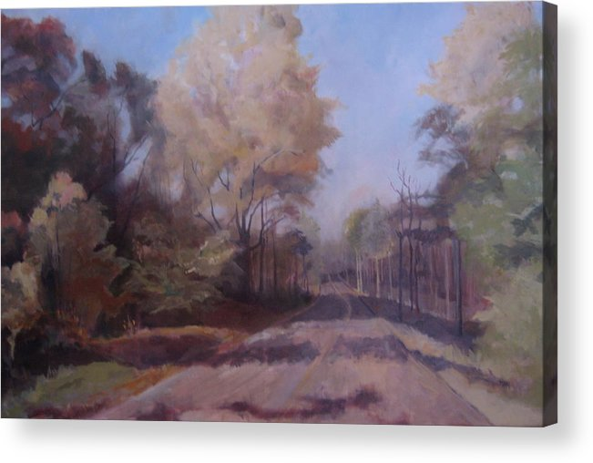 Landscape Acrylic Print featuring the painting Braim Road by Terri Messinger