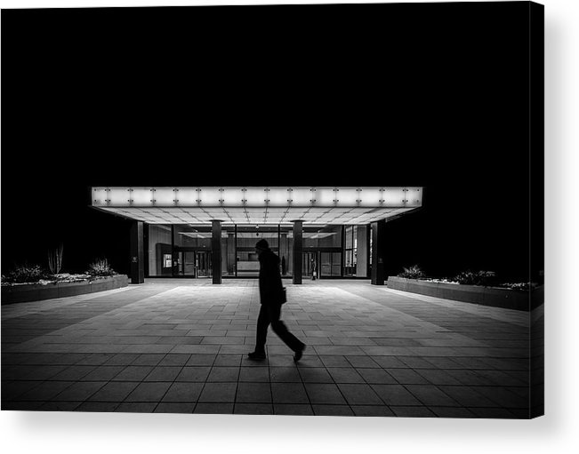 Black And White Acrylic Print featuring the photograph Break The Symmetry by Andres Marin