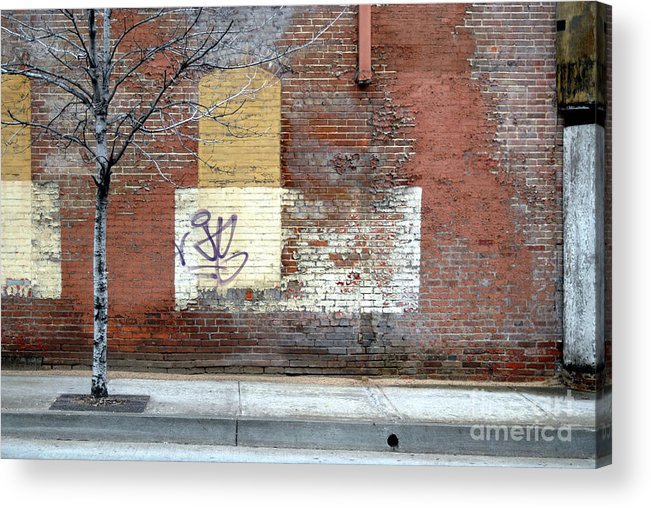 Brick Walls Acrylic Print featuring the photograph Brick Wall 3 Of Four by Walter Oliver Neal