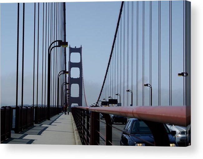 San Francisco Acrylic Print featuring the photograph Bridge Walk by Sonja Anderson