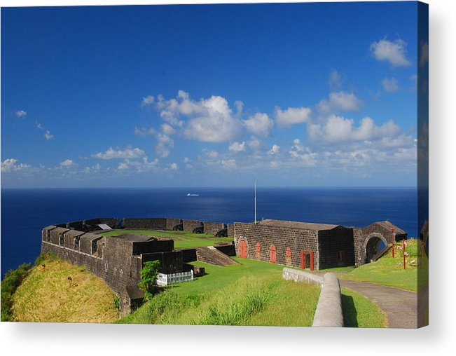 St. Kitts Acrylic Print featuring the photograph Brimstone Hill Fortress by Gary Wonning