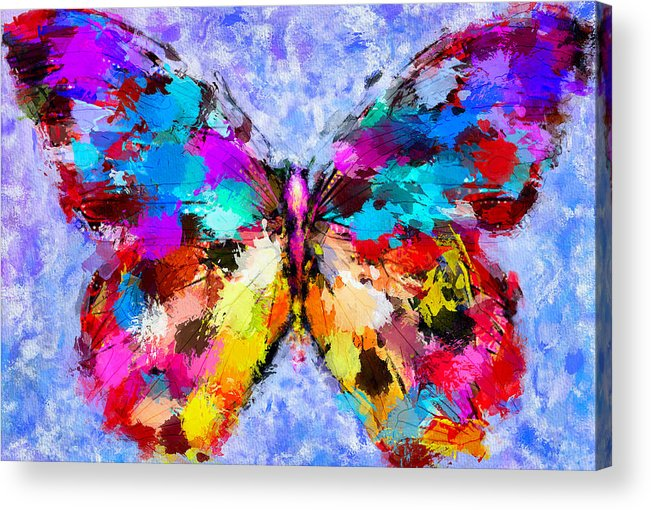 Butterfly Acrylic Print featuring the digital art Butterfly 2 by Yury Malkov