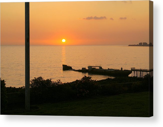 Sunset Acrylic Print featuring the photograph Cement Ship Sunset by Jim Georgiana