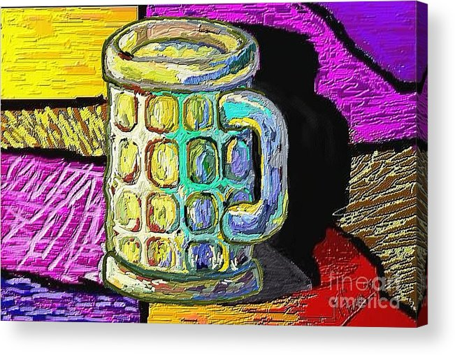 Digital Art Acrylic Print featuring the painting Cervesa by Xavier Ferrer