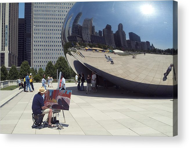 Cloud Gate Acrylic Print featuring the photograph Chicago by Charles Ridgway