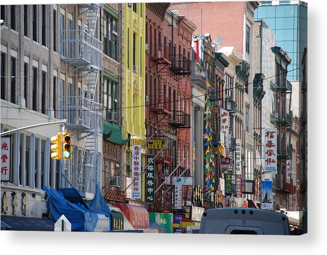 Architecture Acrylic Print featuring the photograph Chinatown Walk Ups by Rob Hans
