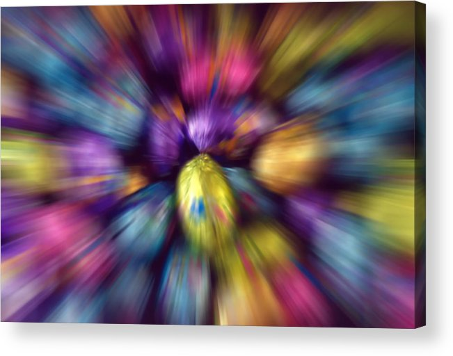 Easter Acrylic Print featuring the photograph Chocolate Easter Eggs With Zoom Effect by Steve Ohlsen