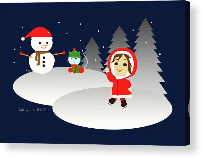 Christmas Acrylic Print featuring the painting Christmas #6 by Laura Greco