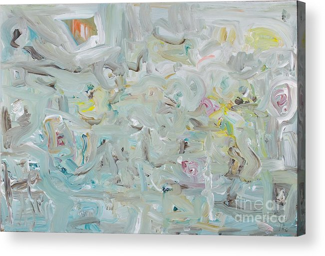Abstract Acrylic Print featuring the painting Cityscape by Mary Cassidy