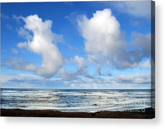 Ocean Acrylic Print featuring the photograph Clouds At Play by Larry Keahey