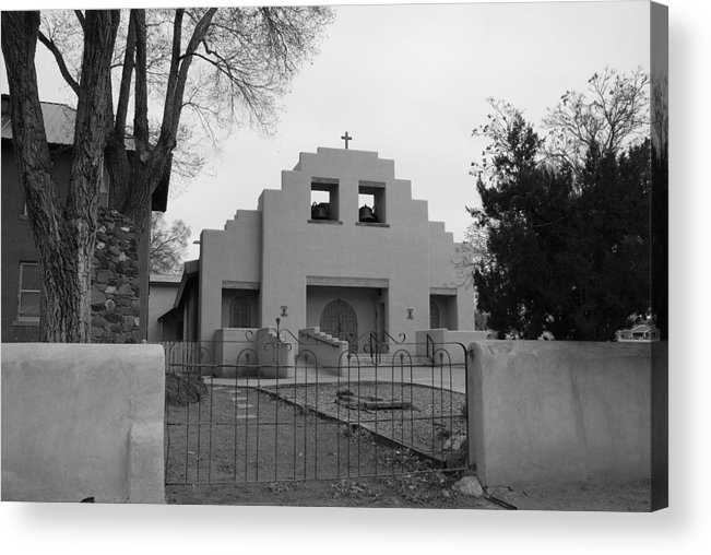 Architecture Acrylic Print featuring the photograph Cochiti Church by Rob Hans