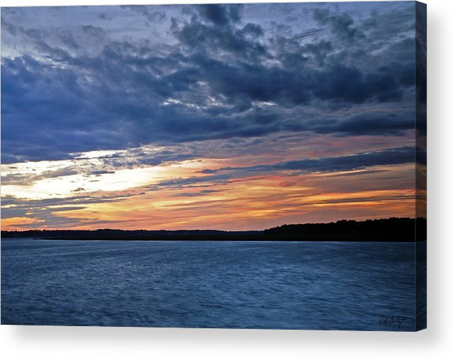 Sunset Acrylic Print featuring the photograph Cold Front by Phill Doherty