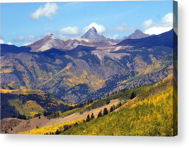 Mountains Acrylic Print featuring the photograph Colorado Mountains 1 by Marty Koch