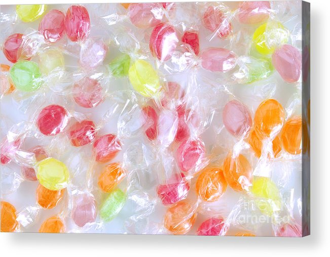 Assorted Acrylic Print featuring the photograph Colorful Candies by Carlos Caetano