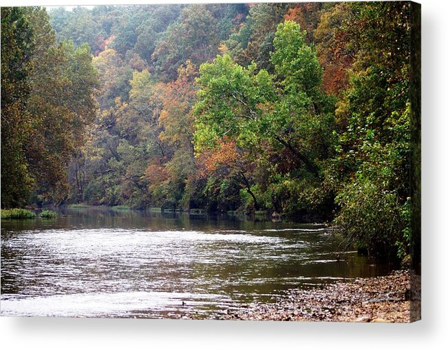 Current River Acrylic Print featuring the photograph Current River Fall by Marty Koch