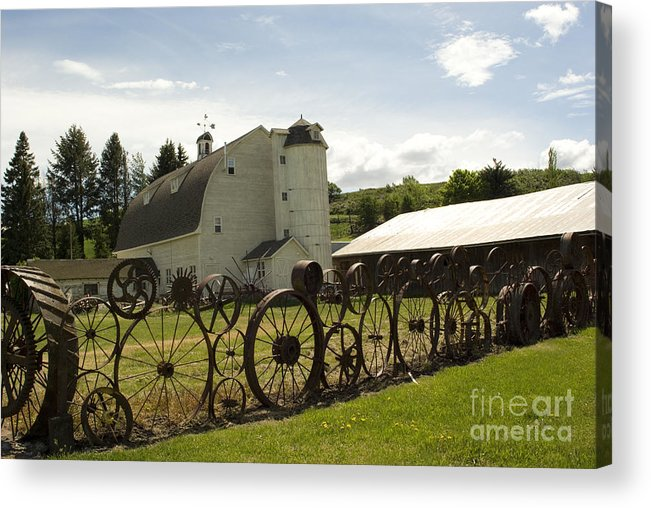 Historic Barn Acrylic Print featuring the photograph Dahmen Barn by Louise Magno