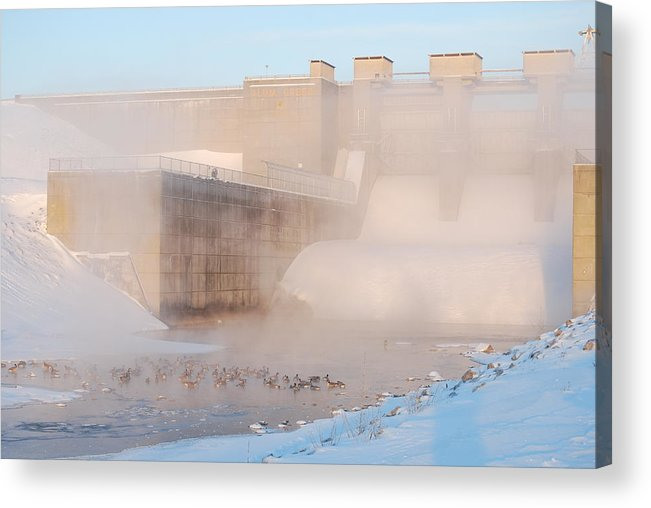 Dam Acrylic Print featuring the photograph Dam Cold by Peter McIntosh
