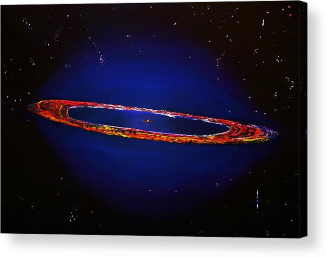 Space Acrylic Print featuring the painting Deep Space Hubble by Gregory Allen Page