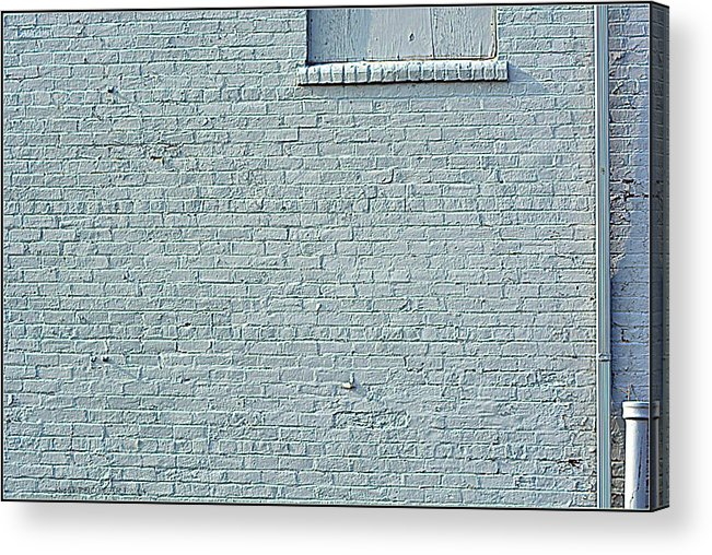 Grey Acrylic Print featuring the photograph Discussion Of The Grey Wall by Kathy Barney