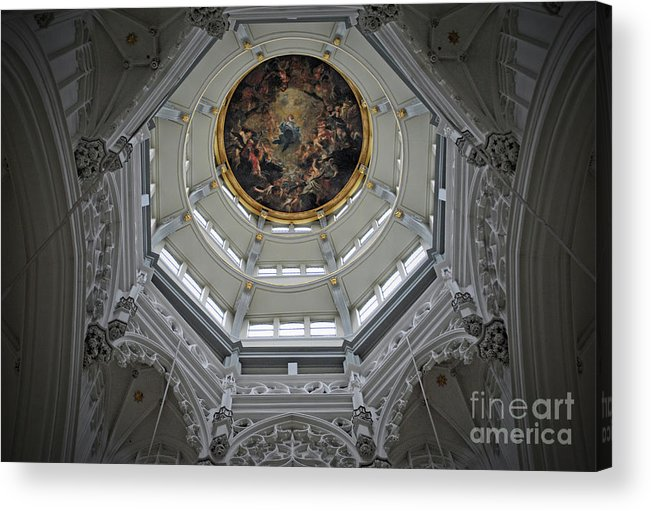 Christian Acrylic Print featuring the photograph Dome Of Cathedral Of Our Lady Antwerp by Jost Houk