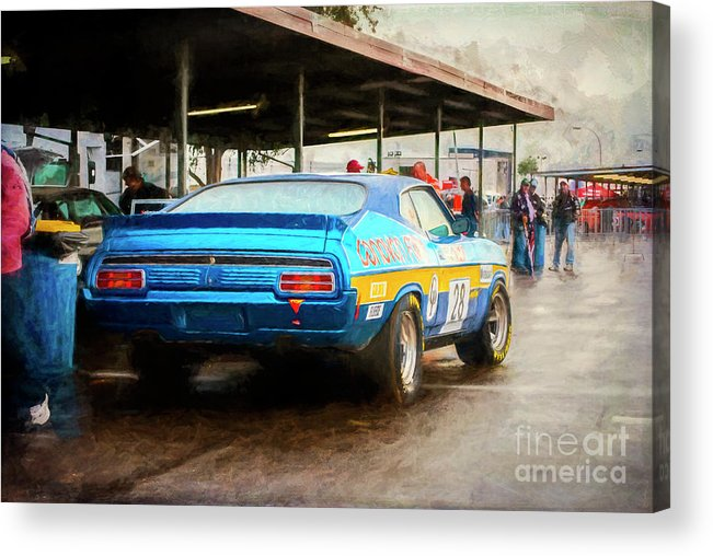 Ford Acrylic Print featuring the photograph Donvovan Xc Falcon by Stuart Row