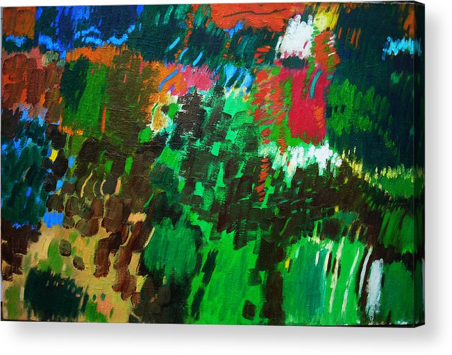 April Acrylic Print featuring the painting Earth by Lorna Ritz