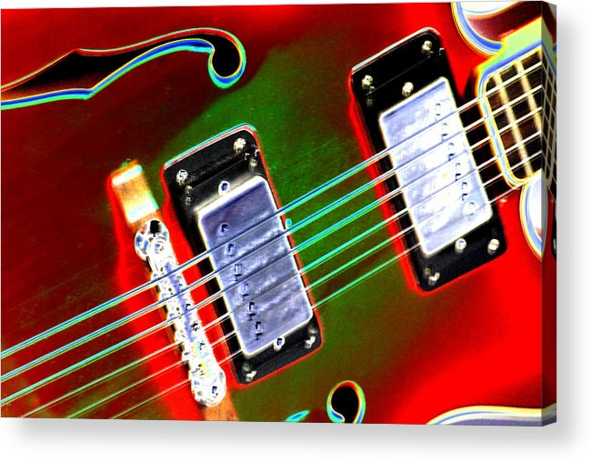 Guitar Acrylic Print featuring the digital art Electric Guitar by Peter McIntosh
