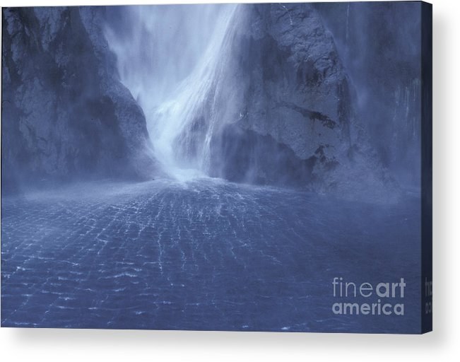 Milford Sound Acrylic Print featuring the photograph Electric Water - Milford Sound by Sandra Bronstein