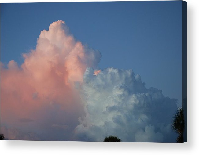 Clouds Acrylic Print featuring the photograph Elephants Clouds by Rob Hans