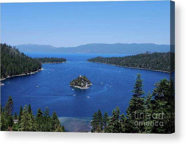 Landscape Acrylic Print featuring the photograph Emerald Bay by Noelle Damato