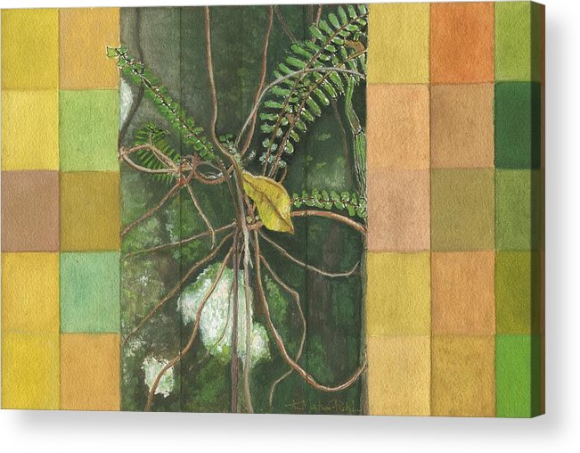 Gouache Acrylic Print featuring the painting Entanglement by Kerryn Madsen- Pietsch