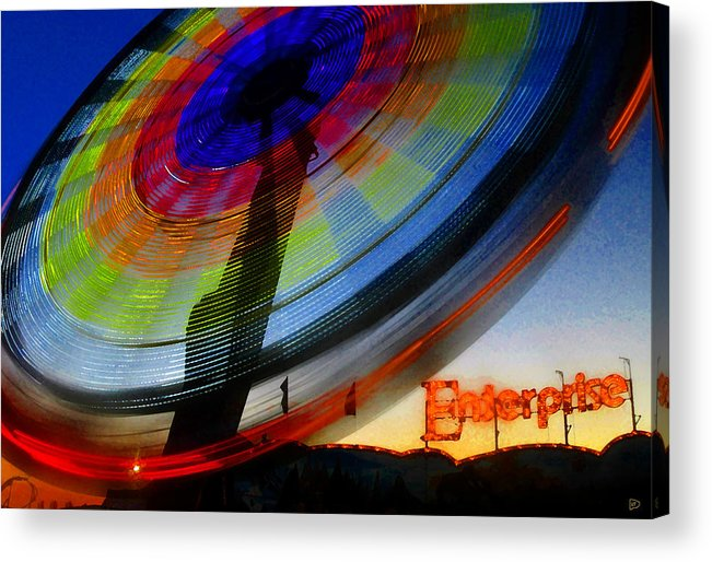 Enterprise Acrylic Print featuring the painting Enterprise by David Lee Thompson