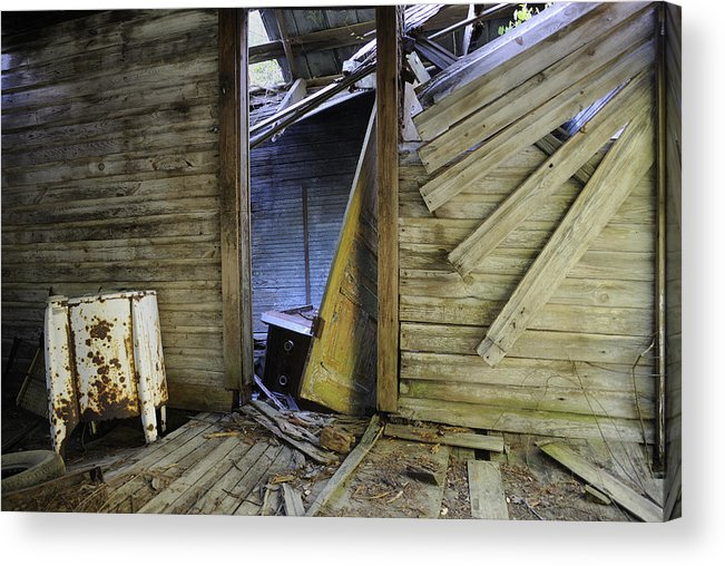 Old Acrylic Print featuring the photograph Faded Light by Ed Zirkle