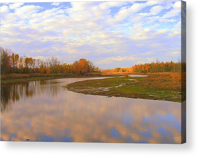 Photography Acrylic Print featuring the photograph Fall Picture Of The Stream by Katina Cote