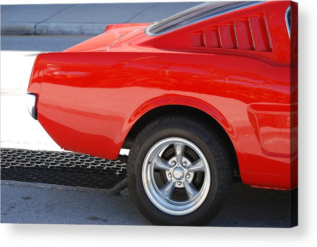 Ford Acrylic Print featuring the photograph Fastback Mustang by Rob Hans