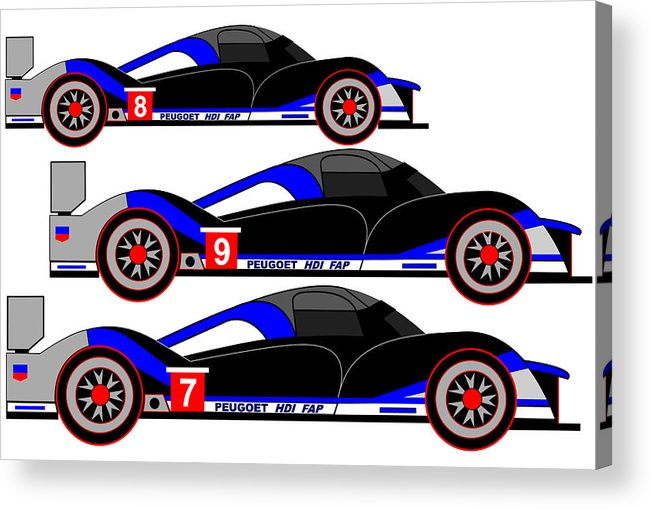 Peugeot 908 Acrylic Print featuring the digital art Final Humiliation by Asbjorn Lonvig