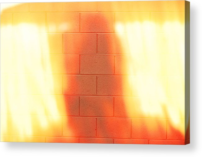 Digital Acrylic Print featuring the photograph Fire Spirit In The Wall by Sean-Michael Gettys